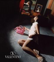 VALENTINO Casual Style Studded 2WAY Leather Party Style Elegant Style
