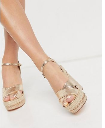Platform Casual Style Block Heels Party Style Office Style