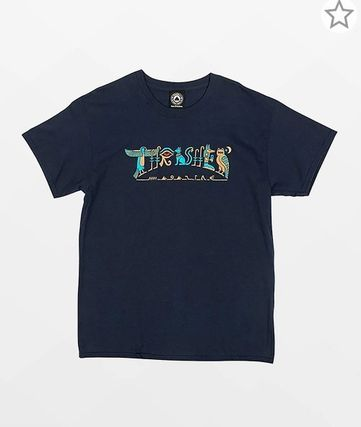 THRASHER Crew Neck Unisex Street Style Plain Cotton Short Sleeves