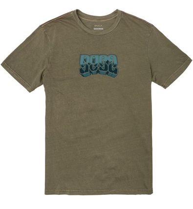 RVCA More T-Shirts Street Style Short Sleeves Logo Graphic Prints T-Shirts 2
