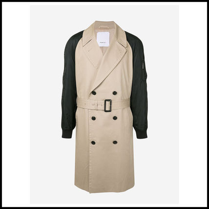 Unisex Plain Long Oversized Trench Coats