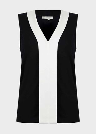 Hobbs London Sleeveless V-Neck Cotton Tanks & Camisoles