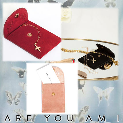 Suede Plain Pouches & Cosmetic Bags