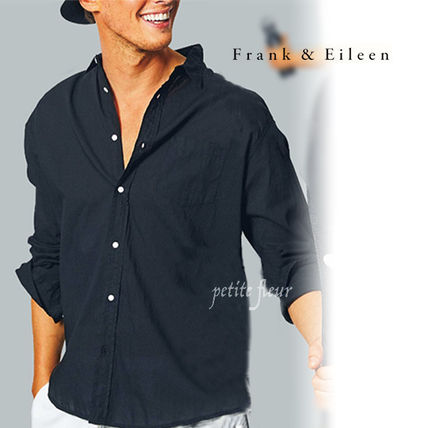 Front Button Long Sleeves Plain Street Style Shirts