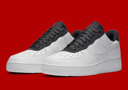 Nike AIR FORCE 1 Blended Fabrics Street Style Plain Leather Logo Sneakers