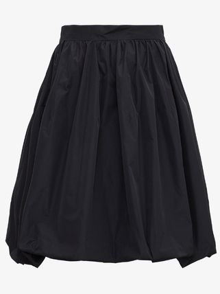 PATOU Flared Skirts Casual Style Plain Party Style Elegant Style