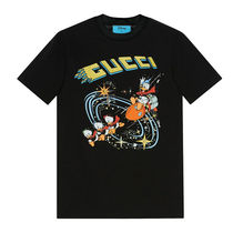 GUCCI Crew Neck Collaboration Cotton Short Sleeves Logo T-Shirts