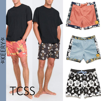 TCSS More Shorts Printed Pants Flower Patterns Street Style Cotton Shorts
