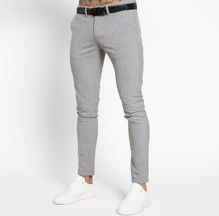 Bee Inspired Clothing Tapered Pants Plain Street Style Tapered Pants