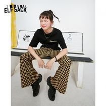 ELF SACK Gingham Other Plaid Patterns Casual Style Blended Fabrics