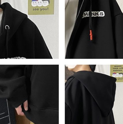 Hoodies Pullovers Sweat Street Style Long Sleeves Cotton Oversized 2