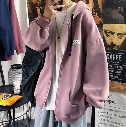 Hoodies Pullovers Sweat Street Style Long Sleeves Cotton Oversized 3
