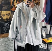 Hoodies Pullovers Sweat Street Style Long Sleeves Cotton Oversized 7