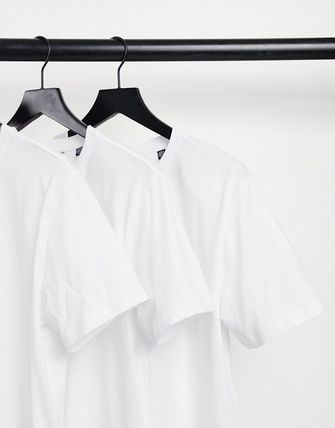ASOS Only & Sons 3 Pack Longline Curved Hem T-Shirt In White
