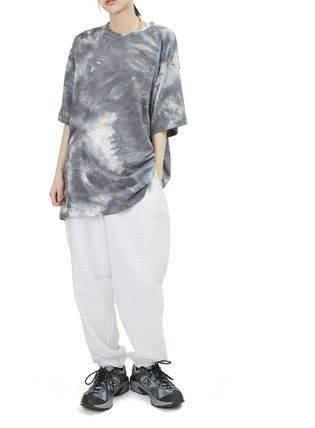 Raucohouse Unisex Street Style Collaboration Cotton Short Sleeves