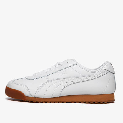MAISON KITSUNE Street Style Collaboration Leather Sneakers