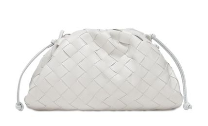 BOTTEGA VENETA THE POUCH Plain Leather Party Style Elegant Style Bridal Shoulder Bags