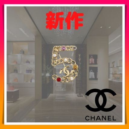 CHANEL Costume Jewelry Blended Fabrics Party Style With Jewels
