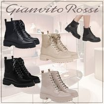 Gianvito Rossi Casual Style Plain Leather Elegant Style Flat Boots