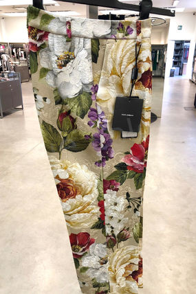 Dolce & Gabbana Printed Pants Flower Patterns Casual Style Cotton