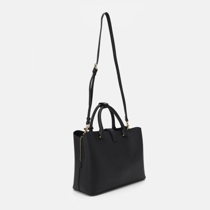 Logo Casual Style Faux Fur 2WAY Plain Office Style Totes