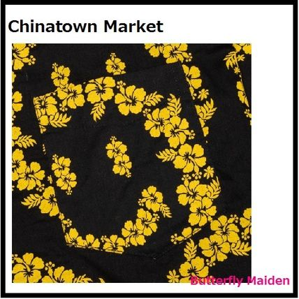 CHINATOWN MARKET Shirts Button-down Cotton Short Sleeves Logo Front Button Shirts 3