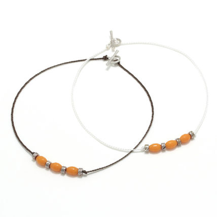 Logo Street Style Silver Anklets