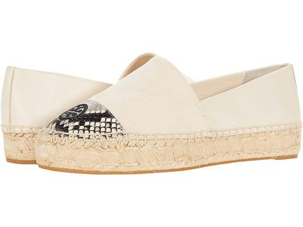 Tory Burch Rubber Sole Casual Style Studded Street Style Leather