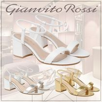 Gianvito Rossi Casual Style Plain Block Heels Party Style Elegant Style