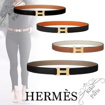 HERMES CONSTANCE Casual Style Plain Leather Office Style Formal Style  Belts