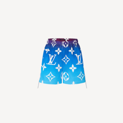 Louis Vuitton MONOGRAM Short Casual Style Silk Nylon Monogram Street Style Shorts