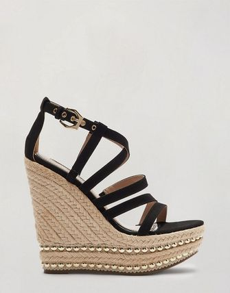 Open Toe Platform Casual Style Studded