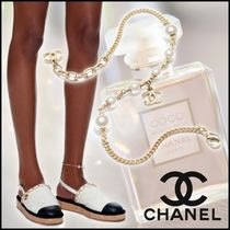 CHANEL Casual Style Party Style Office Style Elegant Style Anklets