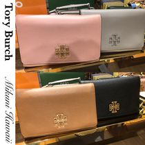 Tory Burch Casual Style 3WAY Chain Plain Leather Party Style