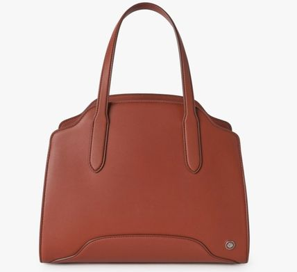 Casual Style Calfskin 2WAY Plain Leather Office Style