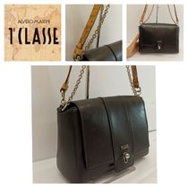 PRIMA CLASSE Casual Style 2WAY Plain Leather Party Style Office Style