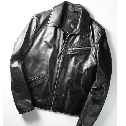 Street Style Leather MA-1 Bridal Logo CPO Jackets