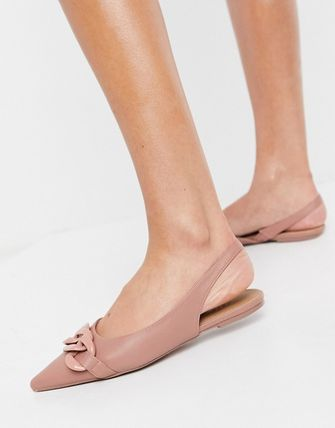 ASOS Casual Style Chain Plain Office Style Pointed Toe Shoes