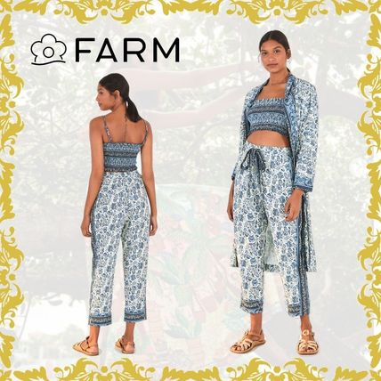 Formal Style  Printed Pants Flower Patterns Paisley