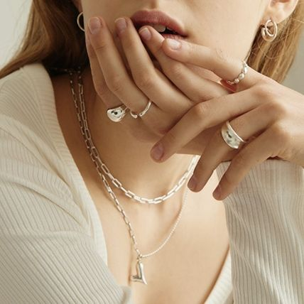 Casual Style Chain Party Style Silver Elegant Style Bold