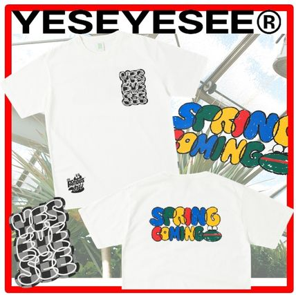 YESEYESEE More T-Shirts Unisex Street Style Cotton Graphic Prints T-Shirts