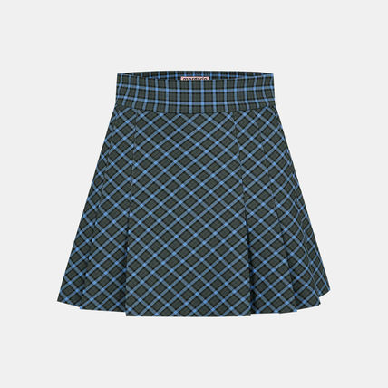 Margarin Fingers Short Other Plaid Patterns Pleated Skirts Street Style