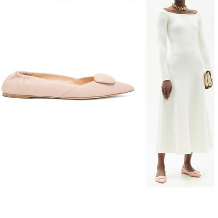 Rupert Sanderson Pointed Toe Plain Leather Pointed Toe Shoes