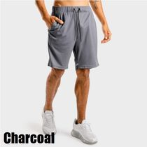 SQUAT WOLF Blended Fabrics Street Style Activewear Bottoms