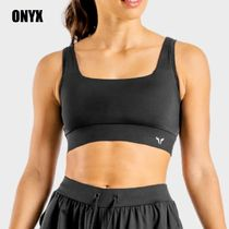 SQUAT WOLF Blended Fabrics Activewear Tops