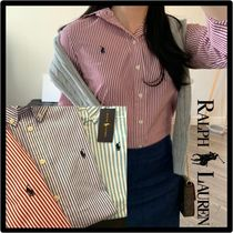 POLO RALPH LAUREN Casual Style Street Style Logo Shirts & Blouses