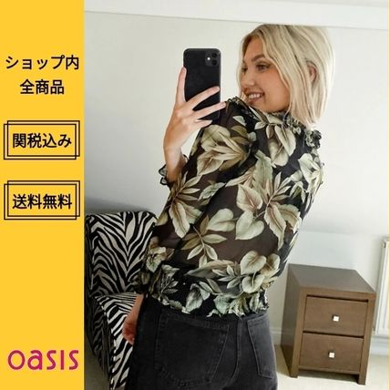 Flower Patterns Tropical Patterns Casual Style Cropped