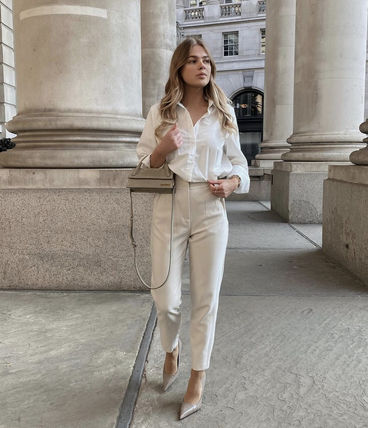 ZARA Casual Style Plain Long Party Style Office Style