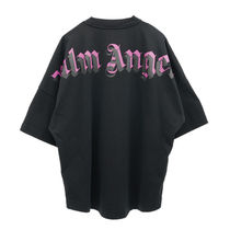 Palm Angels Pullovers Street Style U-Neck Long Sleeves Plain Logo Tops