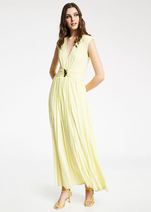 Formal Style  Bridal Casual Style Maxi Sleeveless Flared